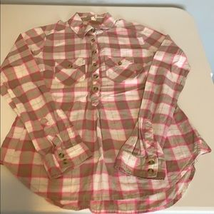 Light weight flannel print top, Size Small